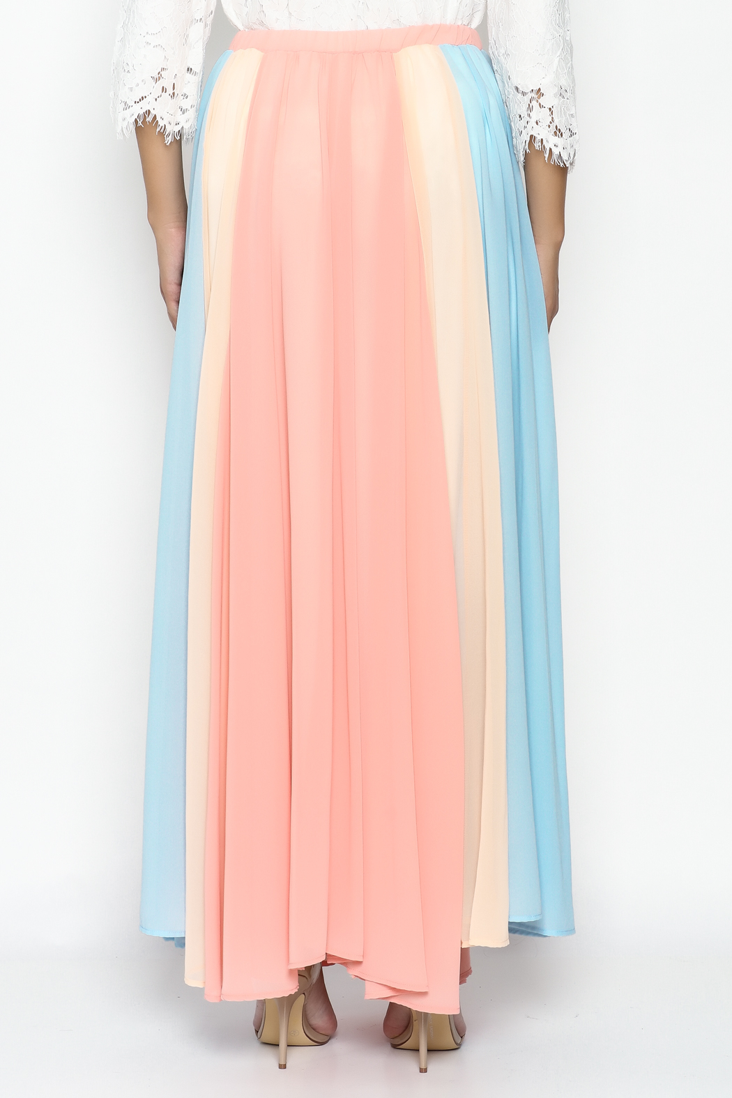 Compendium boutique Gypsy Chiffon Maxi Skirt - Back Cropped Image