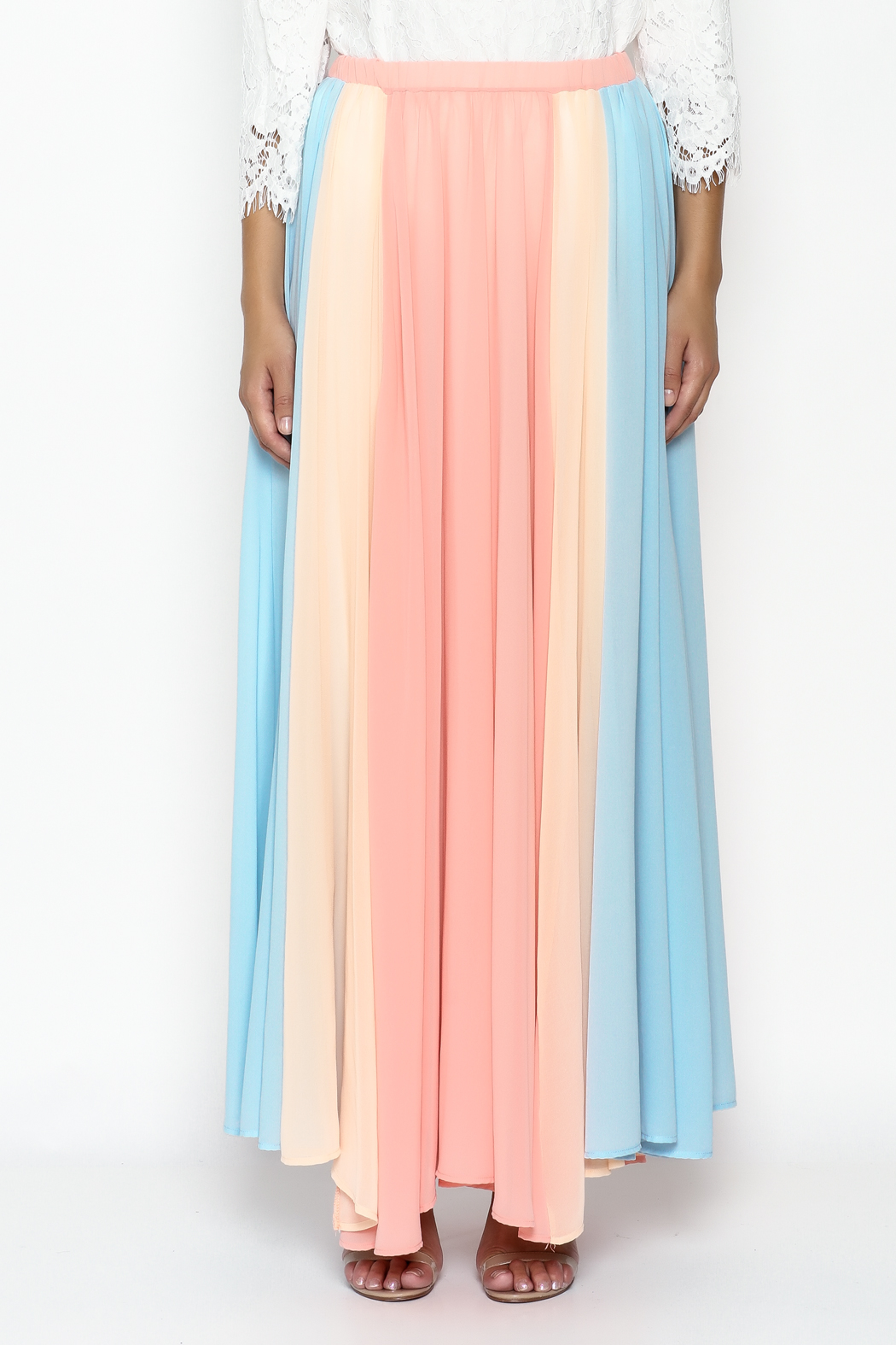 Compendium boutique Gypsy Chiffon Maxi Skirt - Front Full Image