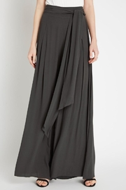 Compendium Charcoal Obi Palazzo Pants - Front cropped