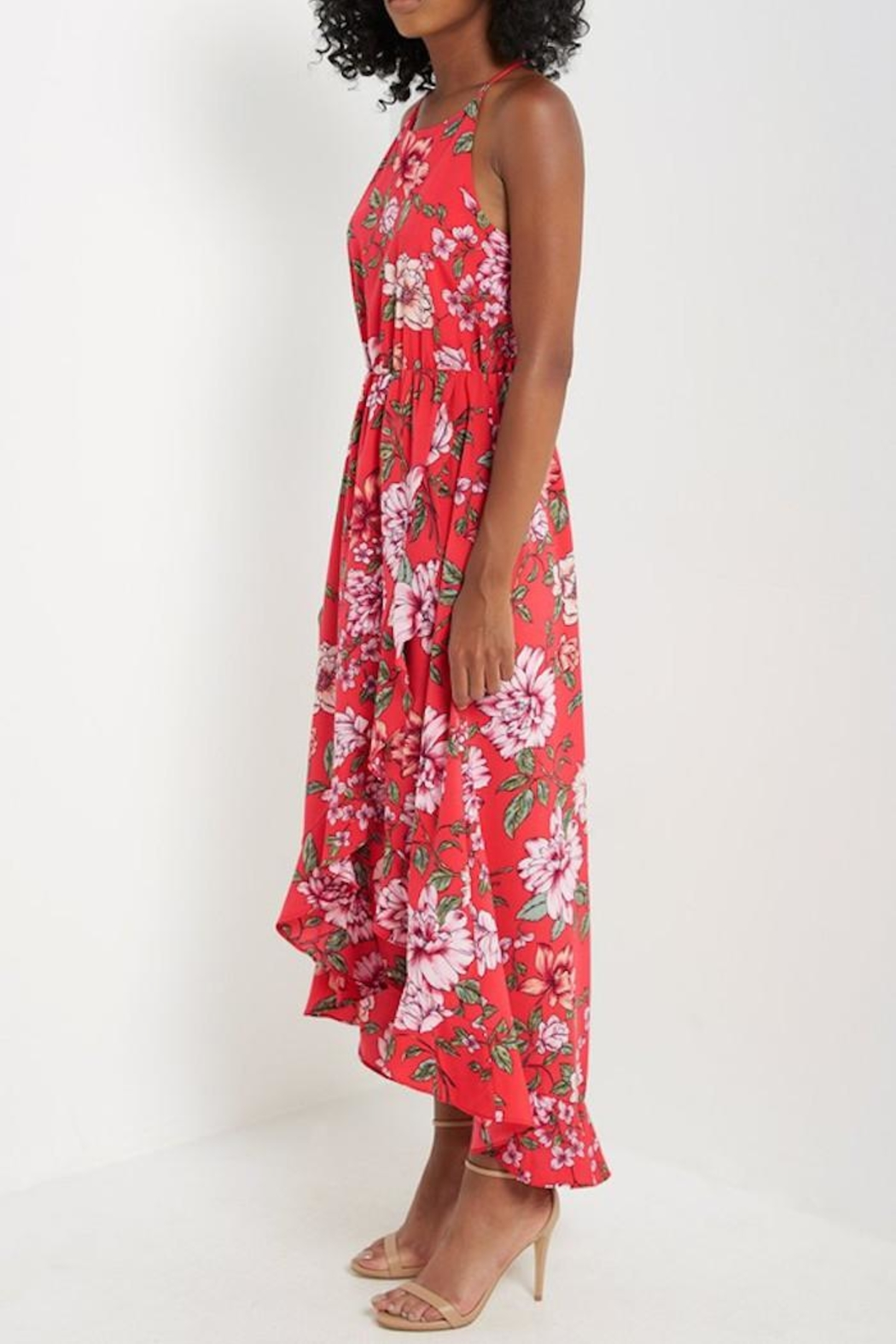 Compendium Floral High-Low Maxi - Front Full Image