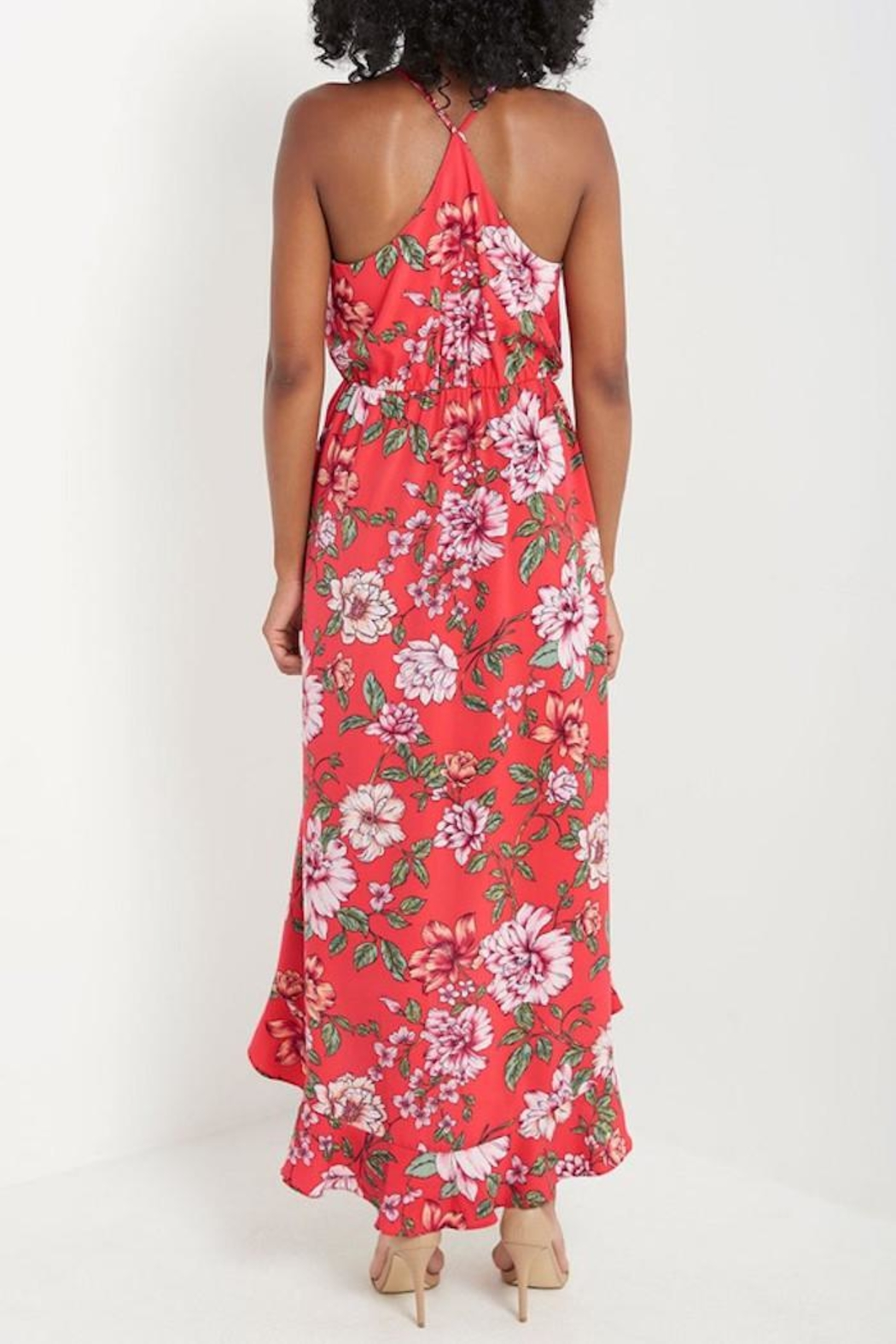 Compendium Floral High-Low Maxi - Side Cropped Image
