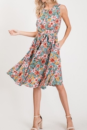 Compendium Floral Sundress W/ Pockets - Side cropped