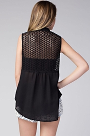 Compendium High-Low Black Chiffon Blouse - Side cropped