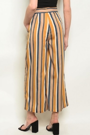 Compendium Kali Striped Culotte Pants - Front full body