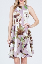 Compendium Lilac Garden Party Floral Dress - Product Mini Image