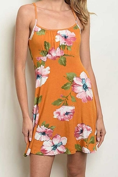 Compendium Mustard Floral Sundress - Product List Image