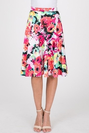 Compendium Neon Floral Swing Skirt - Product Mini Image