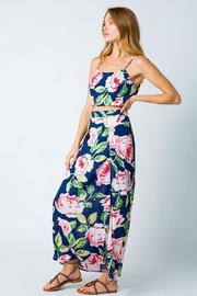 Compendium Rose Double Side Slit Maxi Skirt In Navy - Side cropped