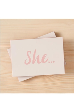 Shoptiques Product: She... Note Cards