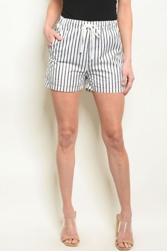 Shoptiques Product: Striped Board Shorts W/ Pockets