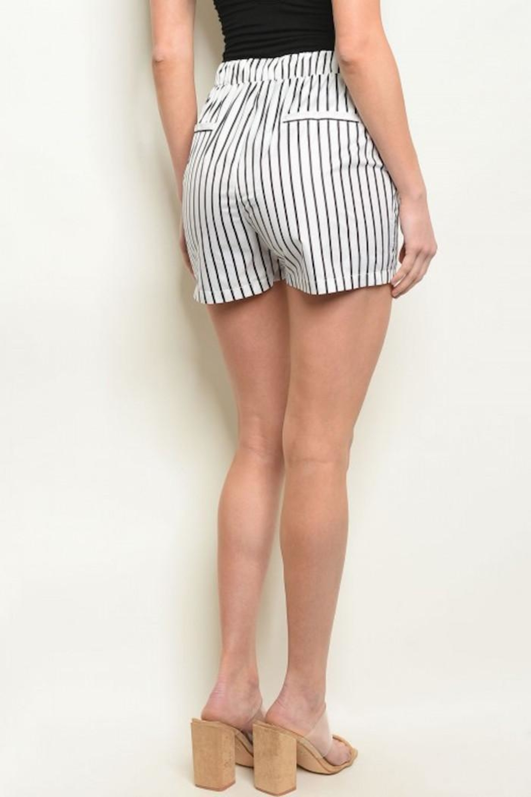 Compendium Striped Board Shorts W/ Pockets - Front Full Image