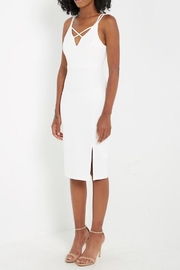 Compendium White Bodycon Midi - Product Mini Image