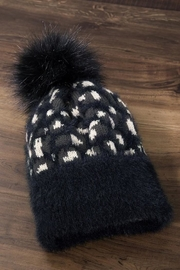 Compendium boutique Black Leopard Beanie - Product Mini Image