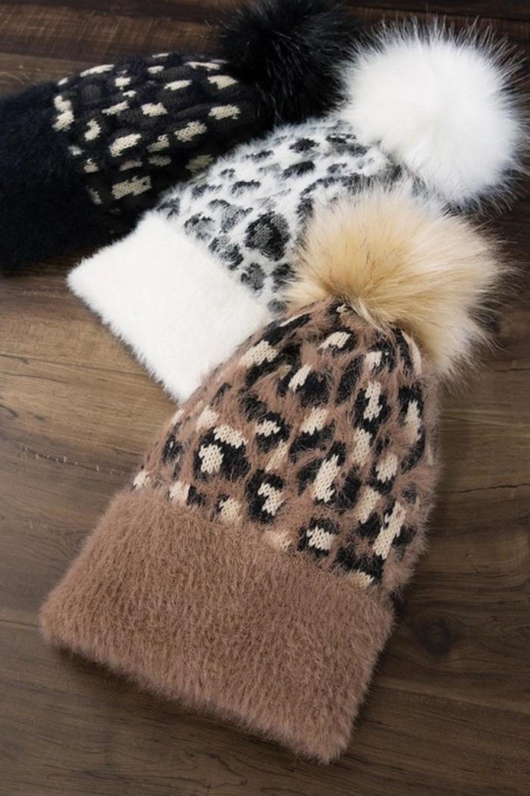 Compendium boutique Brown Leopard Beanie - Front Full Image