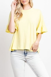 Compendium boutique Yellow Organic-Cotton Tee - Product Mini Image