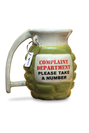 Big Mouth Complaint Department Grenade Mug - Front full body