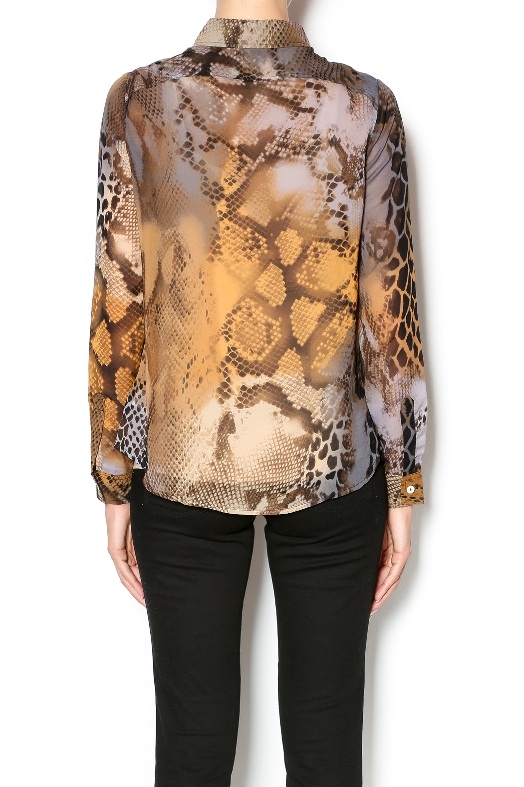 complements snake print shirt from new jersey  u2014 shoptiques