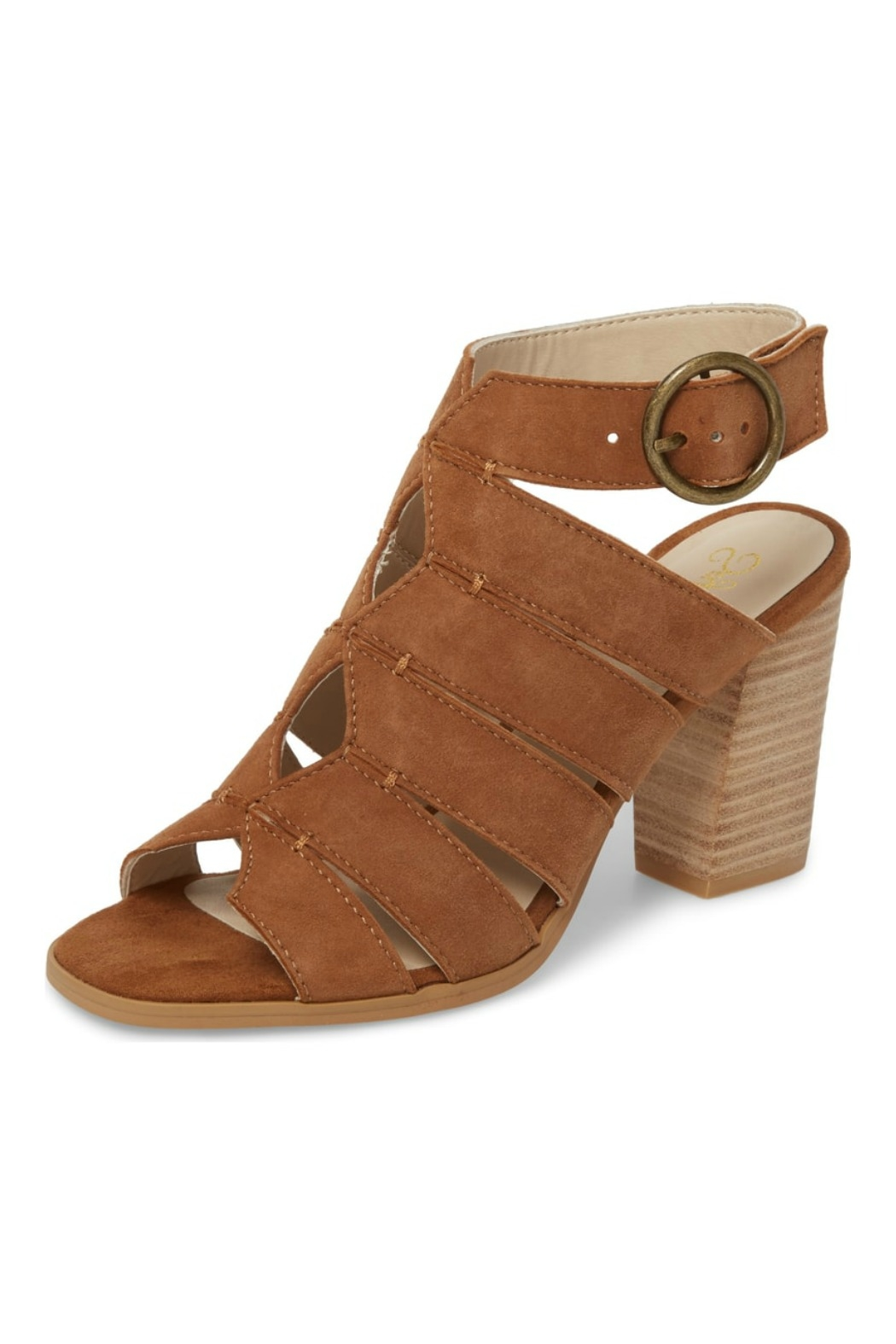Completely Engaged Tan Suede Stack Heel