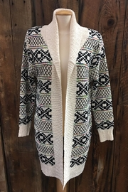 Compliments Open Front Cardigan - Product Mini Image