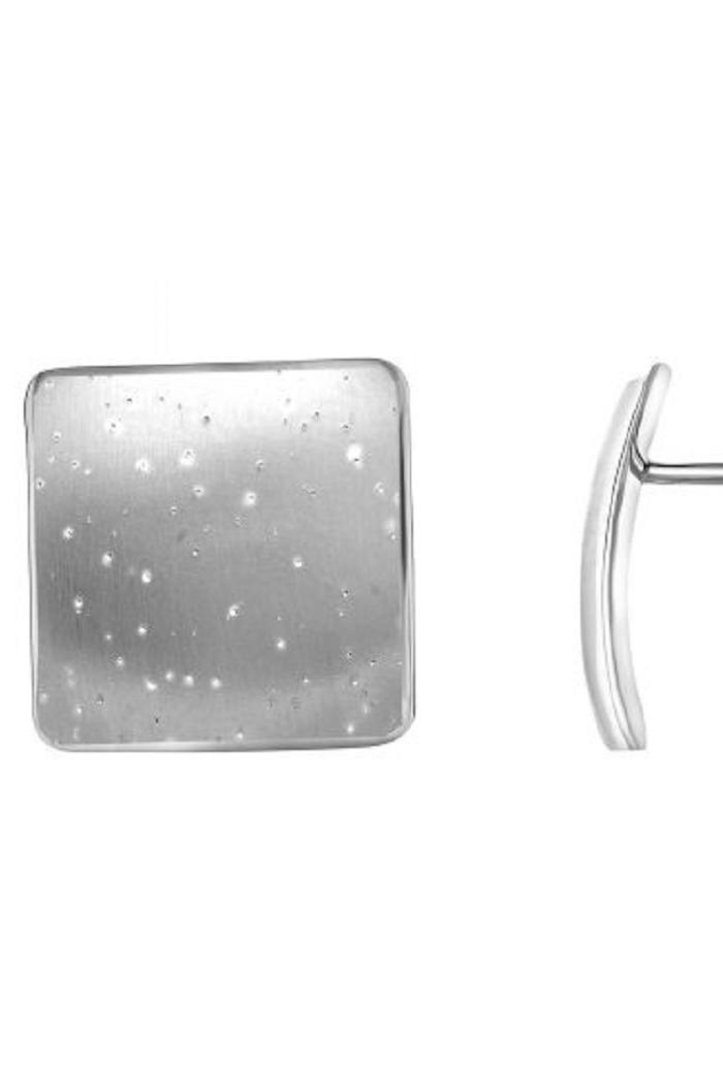 Bling It Around Again Concave Square Earrings - Main Image