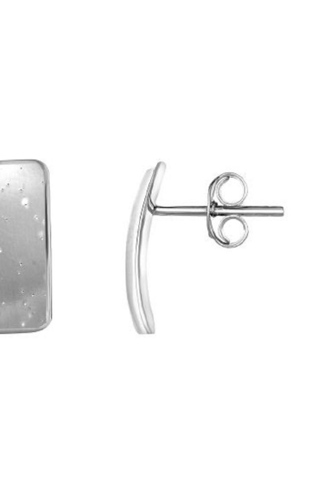 Bling It Around Again Concave Square Earrings - Front Full Image