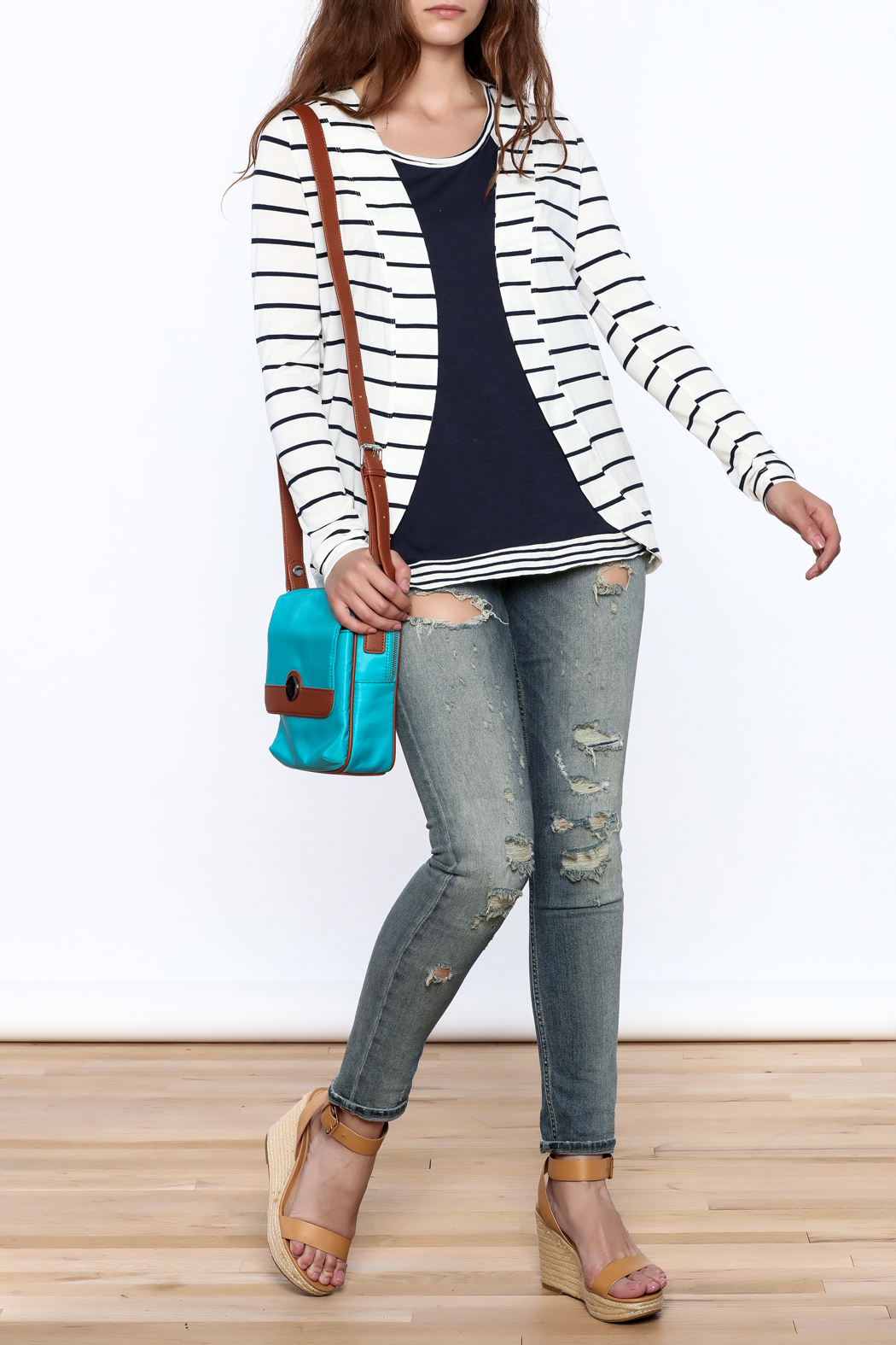 Concealed Carrie Blue Carrie Crossbody Bag - Back Cropped Image