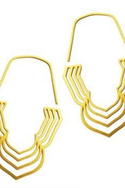 Daphne Olive Concentric Petal Hoops - Product Mini Image