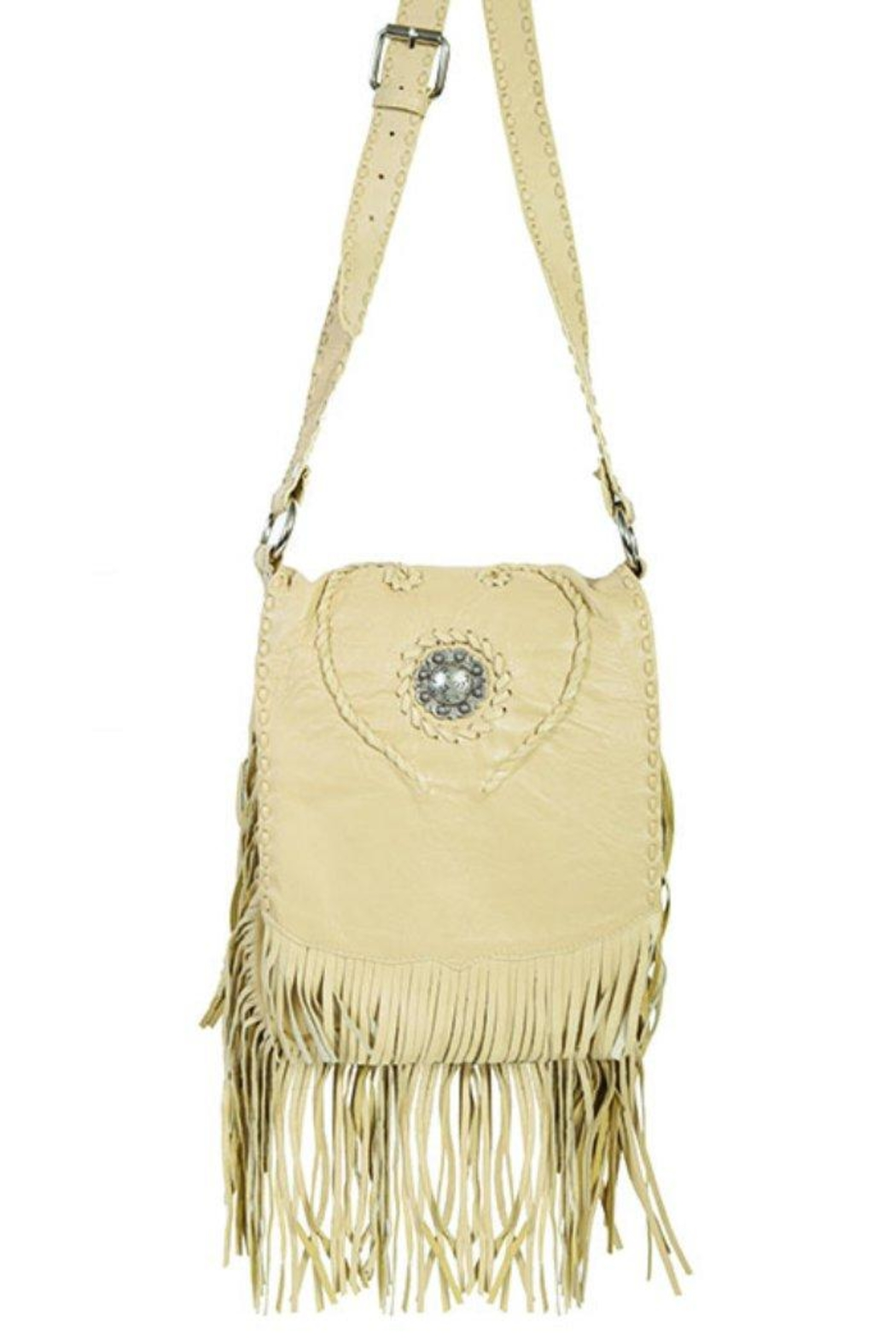 Scully Concho Leather Crossbody - Main Image