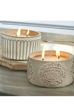 Mud Pie Concrete Citronella Candles - Alternate List Image