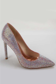 anne michelle Condition-11 Iridescent Pump - Front full body