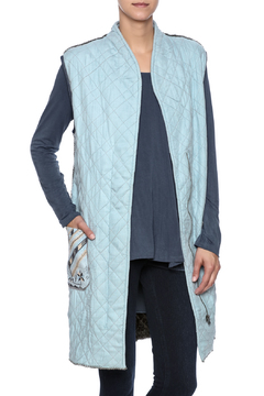 Conditions Apply Blue Quilted Vest - Product List Image