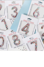 Packed Party Confeti Number Sticker - Product Mini Image