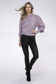 Black Tape/Dex Confetti Balloon Slv Sweater - Front cropped