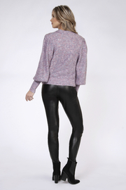 Black Tape/Dex Confetti Balloon Slv Sweater - Front full body