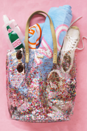Packed Party Confetti Bucket Bag - Front full body