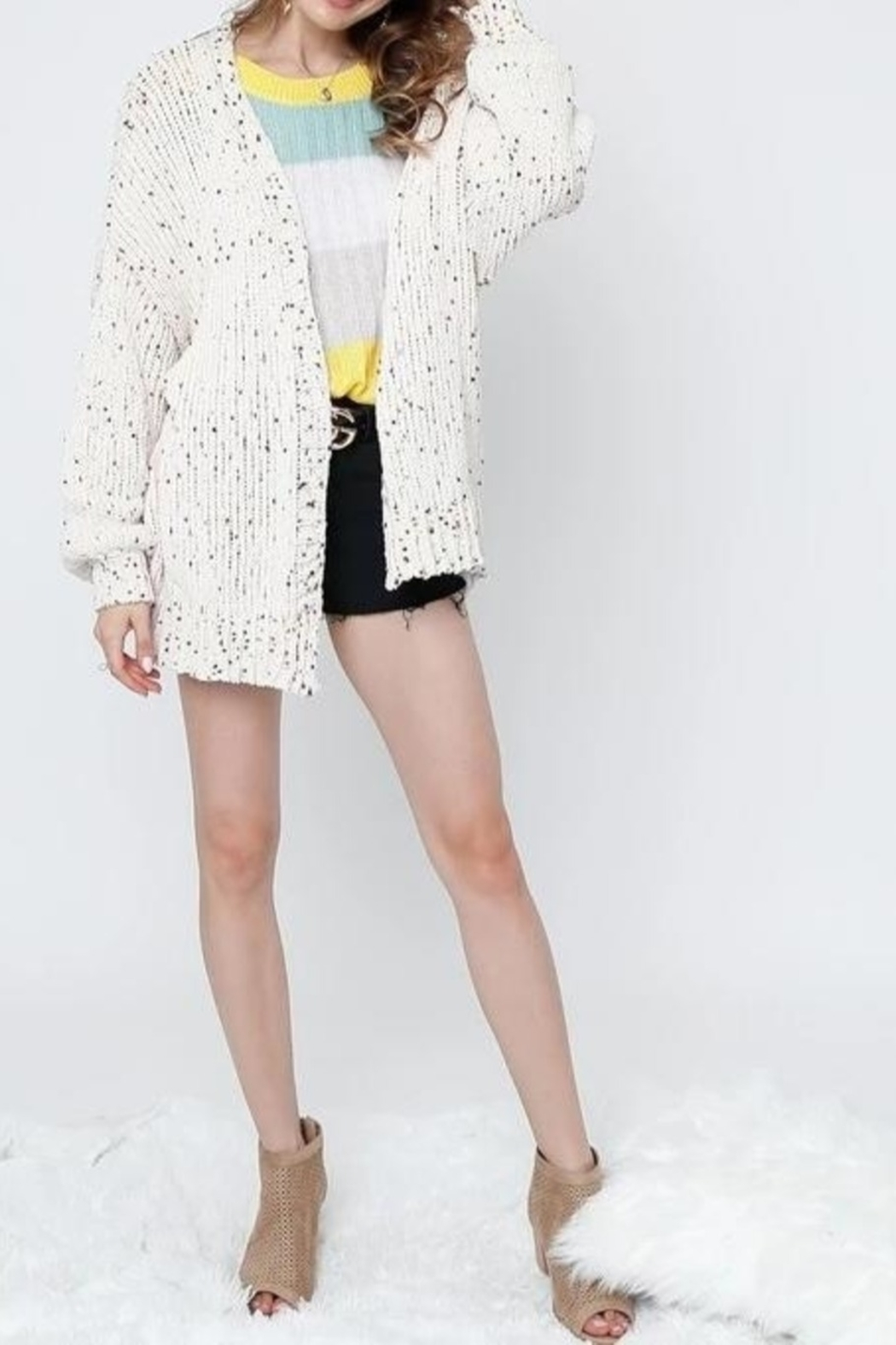 Adora Confetti Cardigan - Front Cropped Image