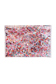 Packed Party Confetti Envelope Clutch - Front full body