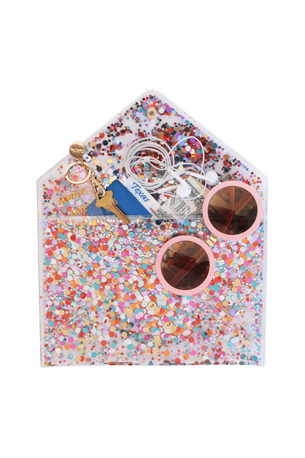 Packed Party Confetti Envelope Clutch - Main Image