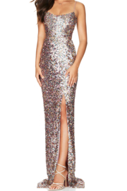 Nookie Confetti Gown - Front full body