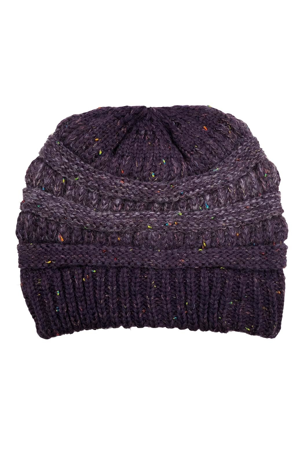 Adrienne Confetti Knit Hat - Front Cropped Image