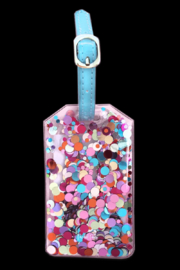 Packed Party Confetti Luggage Tag - Front cropped