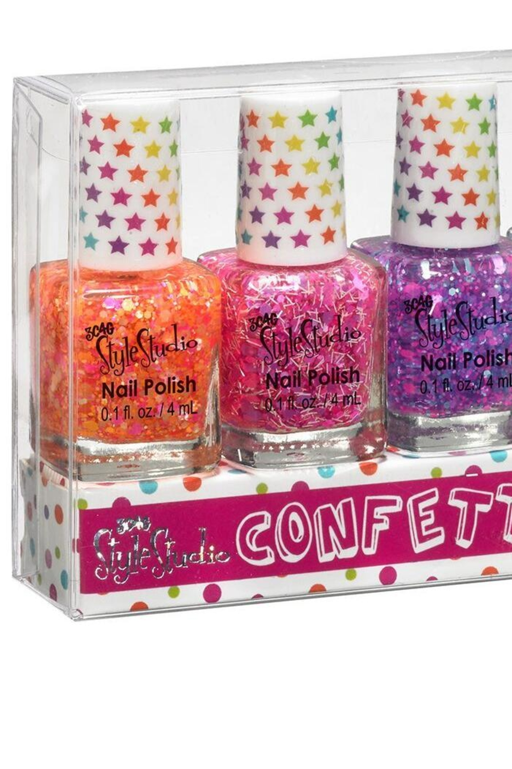Three Cheers For Girls Confetti Nail Polish-Set - Front Cropped Image