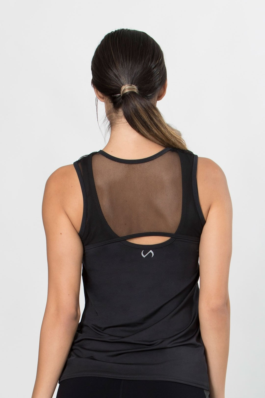 TLF Apparel Confined Mesh Keyhole Tank - Side Cropped Image