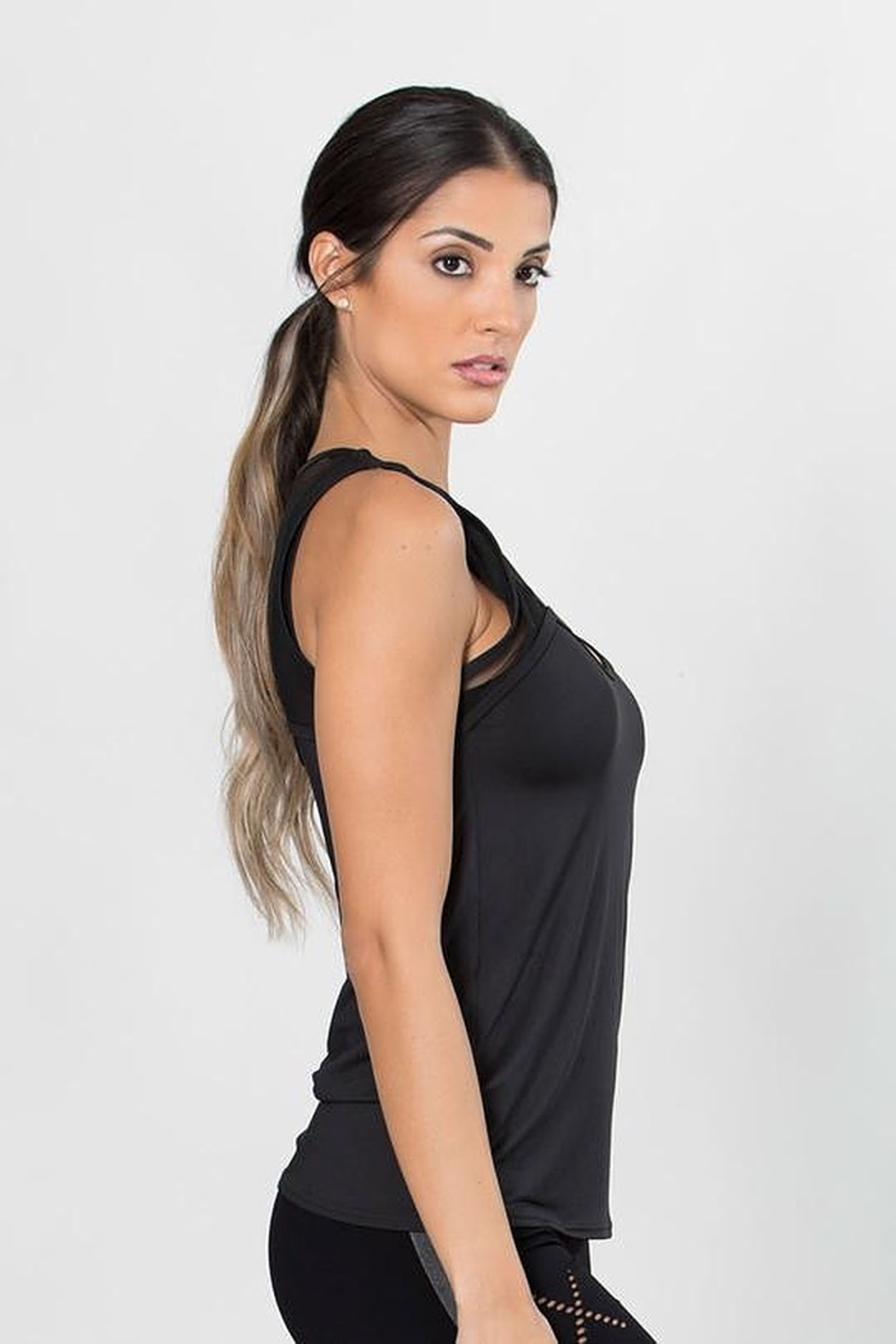 TLF Apparel Confined Mesh Keyhole Tank - Front Full Image
