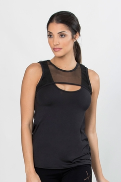 TLF Apparel Confined Mesh Keyhole Tank - Product List Image