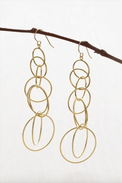Amano Trading Connected Circle Earrings - Alternate List Image