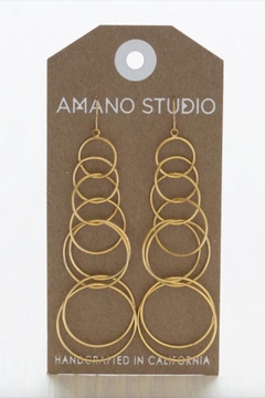 Amano Trading Connected Circle Earrings - Product List Image