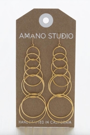 Amano Trading Connected Circle Earrings - Product Mini Image
