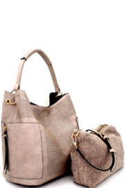 Bag Boutique Connie 2-in-1 Hobo Bag Set - Front cropped