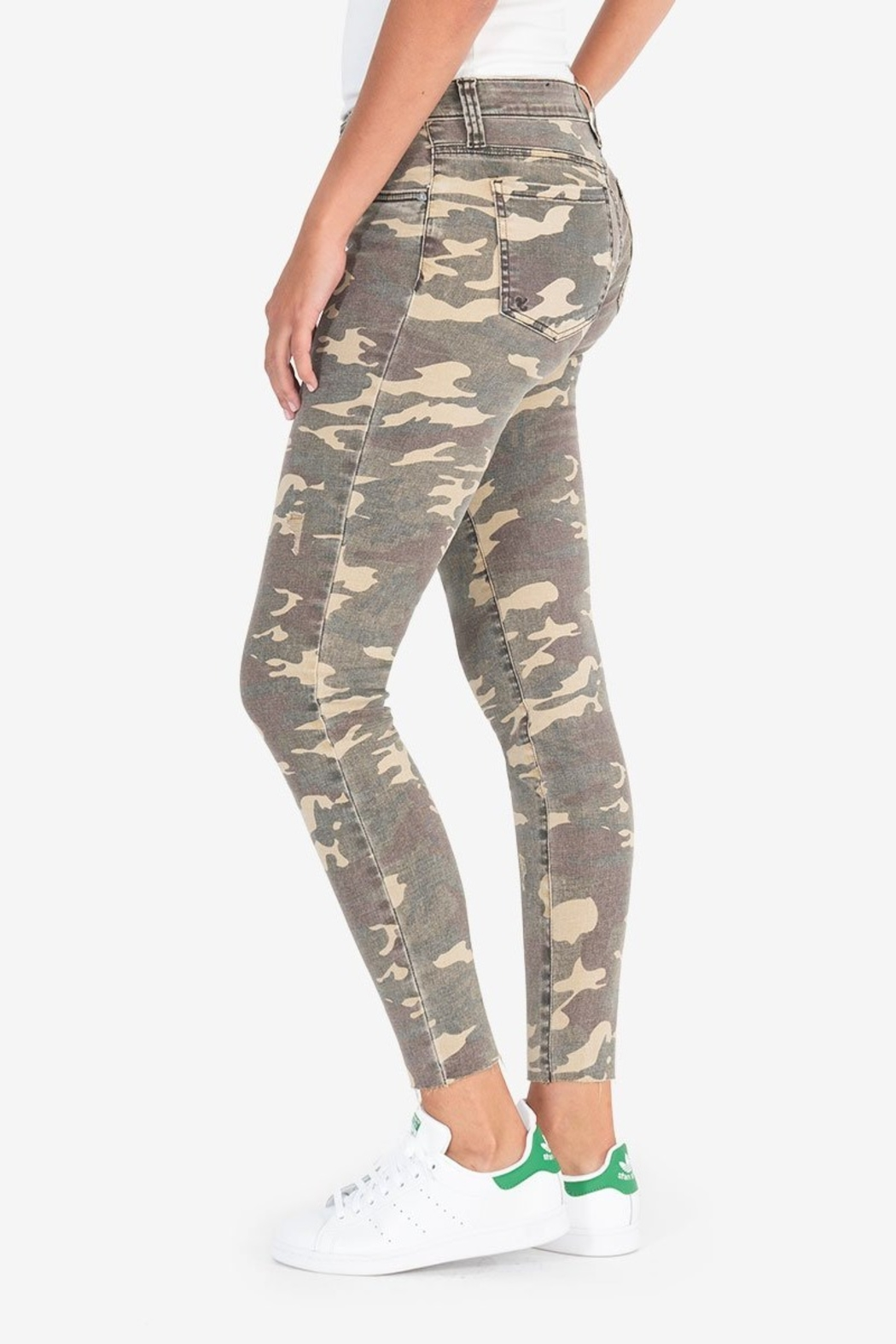 KUT Connie Ankle Skinny- Camo - Front Full Image